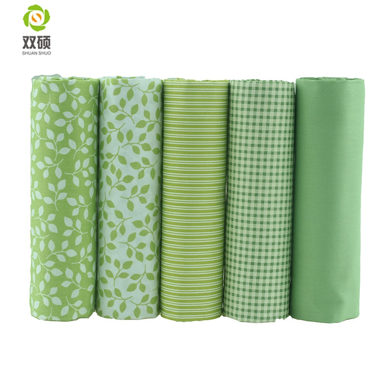 20pcs Fat Quarters Fabric + Free Magnetic Seam Guide