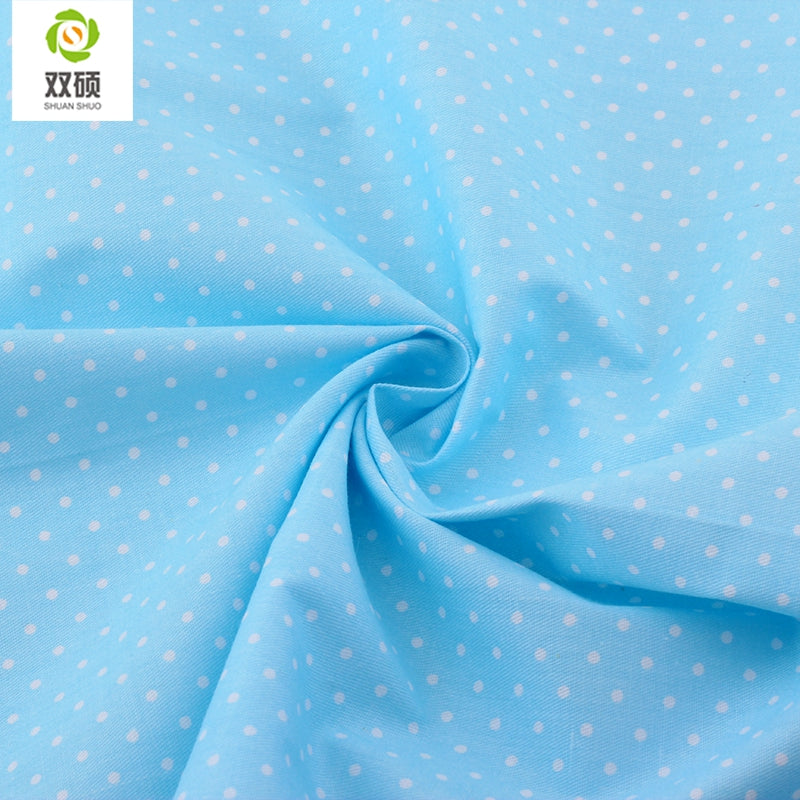 "5pcs Blue ""Extra Fat"" Fat Quarter Cotton Fabric"