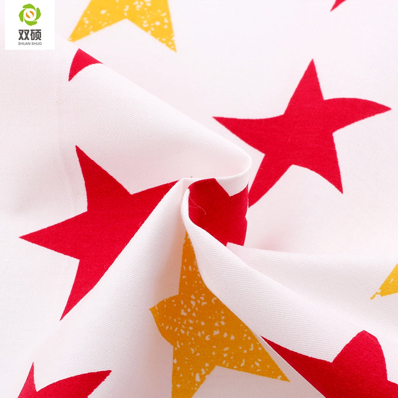 "6pcs Star ""Extra Fat"" Fat Quarters Cotton Fabric"