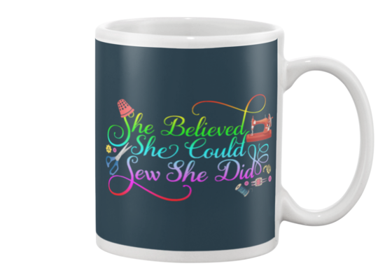 Sewing She Did Mug - I Love Quilting Forever - 4