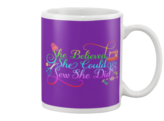 Sewing She Did Mug - I Love Quilting Forever - 3
