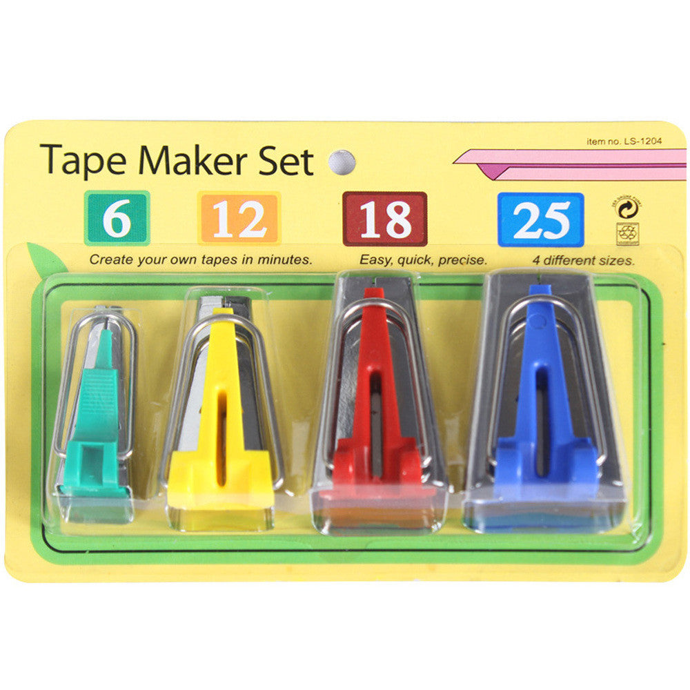 Bias Tape Makers (set of 4 sizes) - I Love Quilting Forever - 5