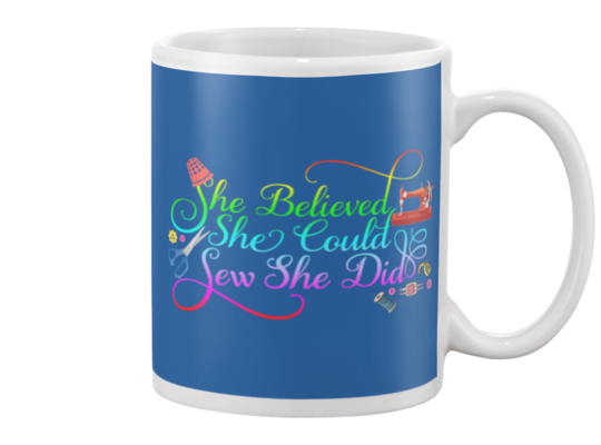 Sewing She Did Mug - I Love Quilting Forever - 6