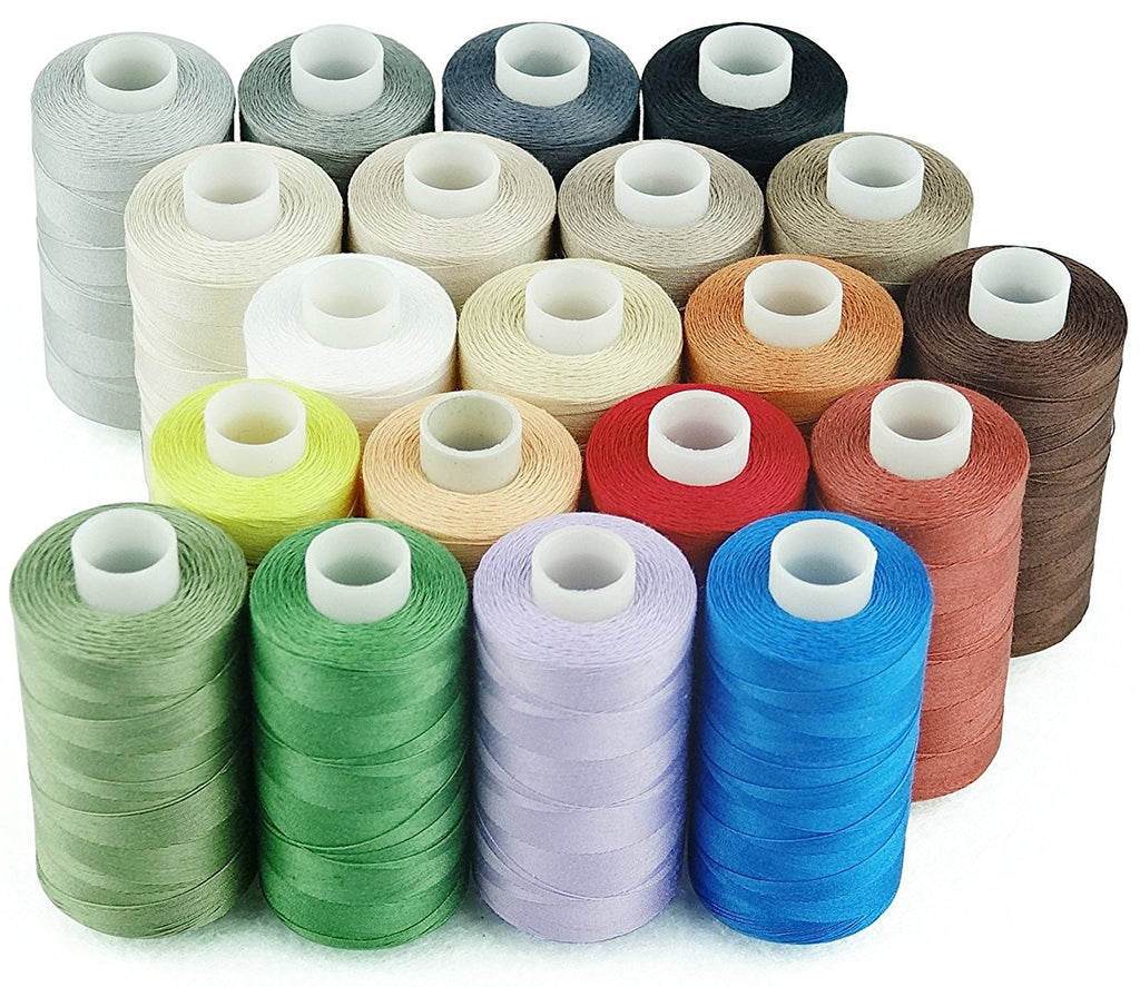 20 Cotton Thread Spools + 12 Free Spool Huggers [OUT OF STOCK]