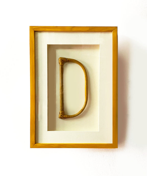 The D Bamboo Wall Art