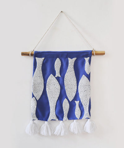 White Jewel Fish Wall Hanging