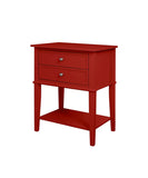Deep Red Night Stand / End Table