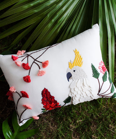Cockatoo Parrot Cushion