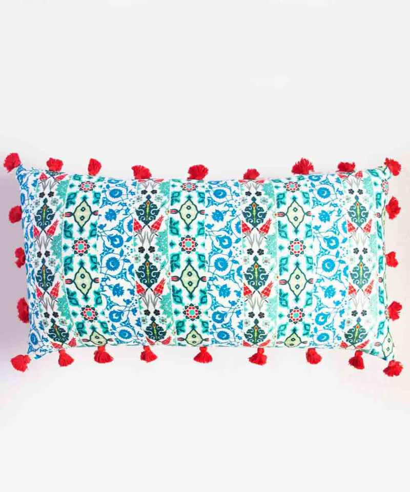 Tasseled Blues Cushion