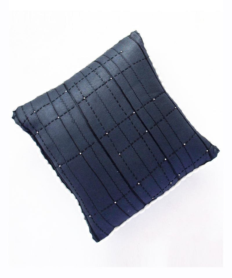 Midnight Quilted Cushion