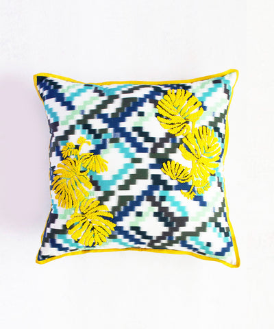 Neon Palm Cushion Cover