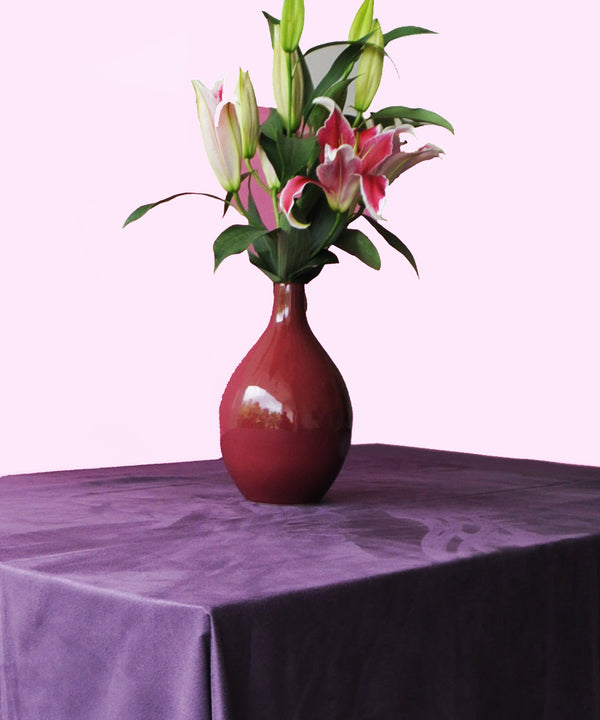 Grape Wine Suede Table Cloth