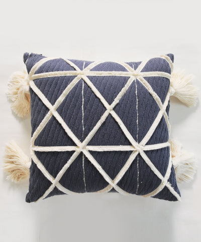 Glory Grey Square Two Side Cushion