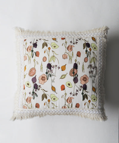 Garden Blossom Laced Cushion