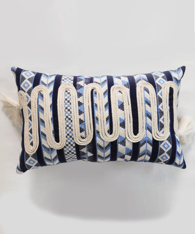 Shades Of Sea Long  Cushion