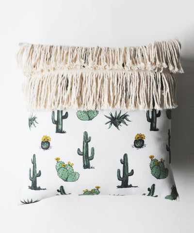 Desert Life Fringed Cushion