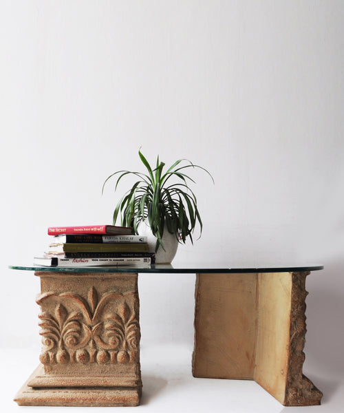 Ancient Two Pillar Coffee Table