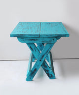 Turquoise Folding Table