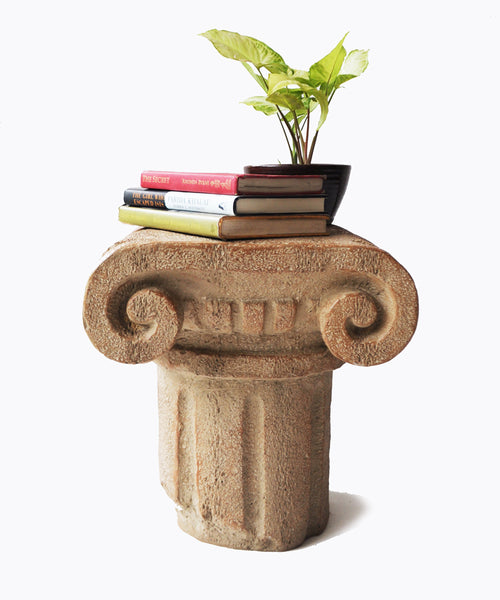 Ancient Pillar Side Table