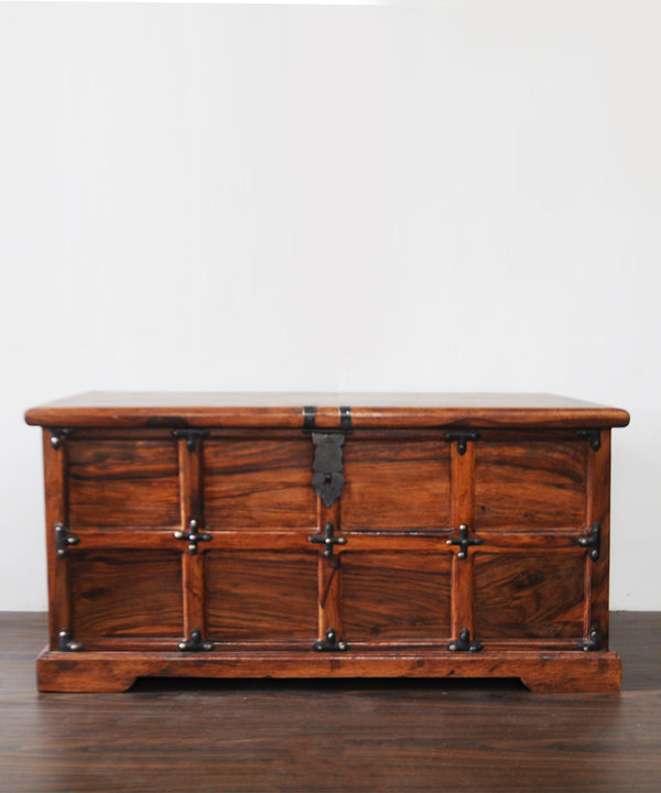 Grand Antique Panelled Sheesham Chest