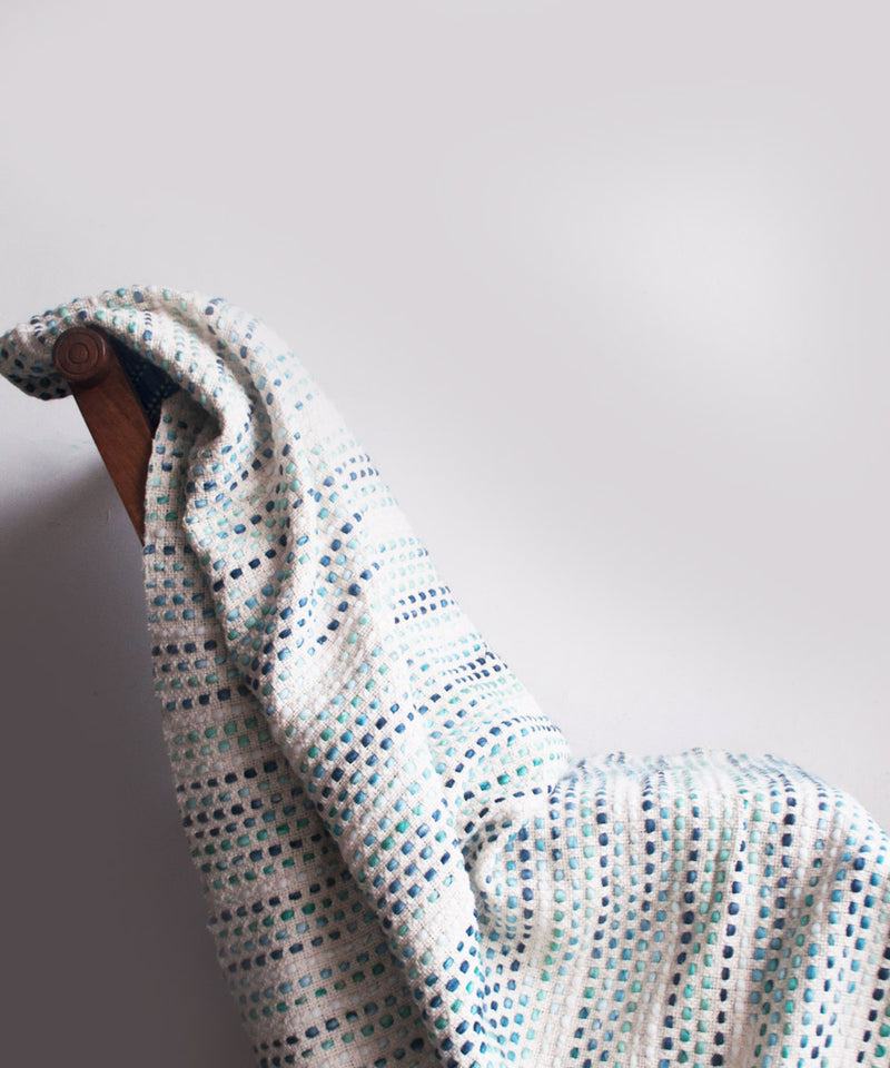 Pure White Knitted Pop Throw