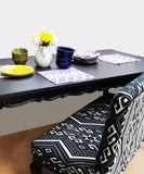 Two Tone Six Seater Dining Table