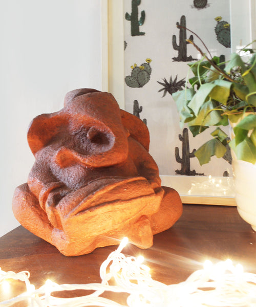 Rust Ganesha Sculpture