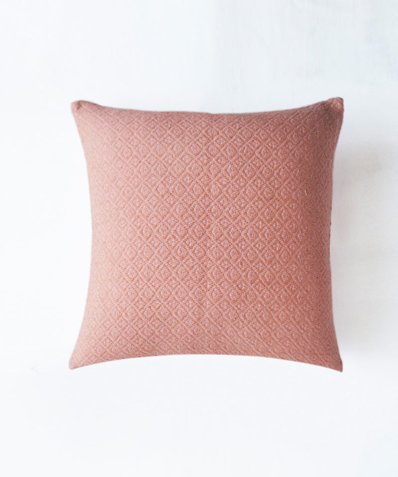 Summer Peach Quilted Cushion Cover