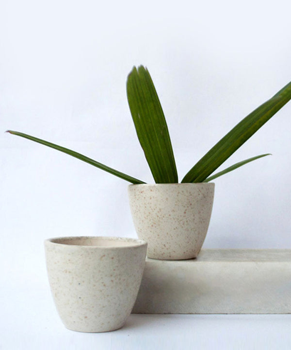 White Grain Small Planter