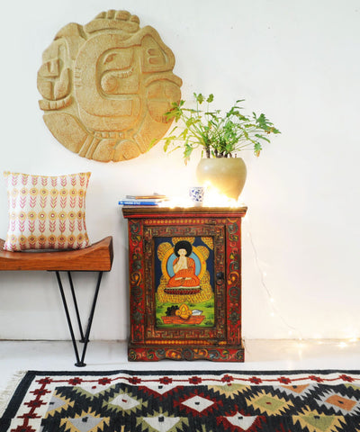 Hand Painted Zen Side Table