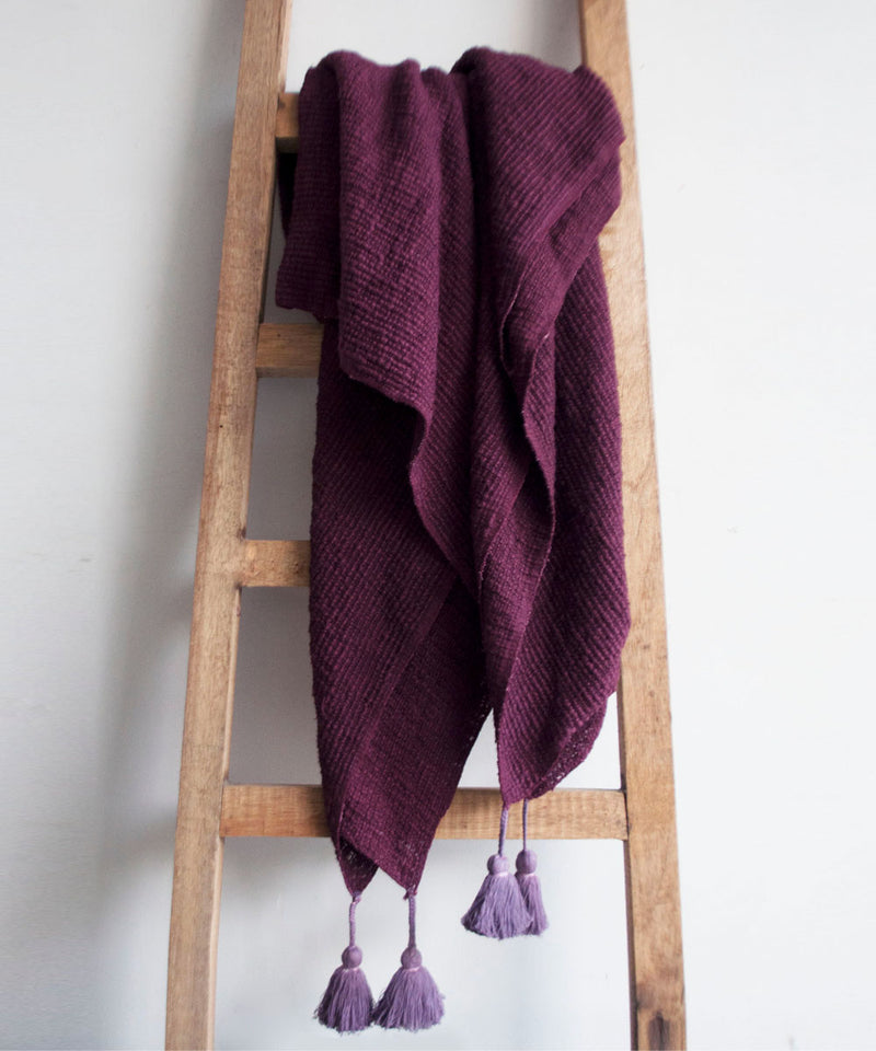 Knitted Vineyard Throw