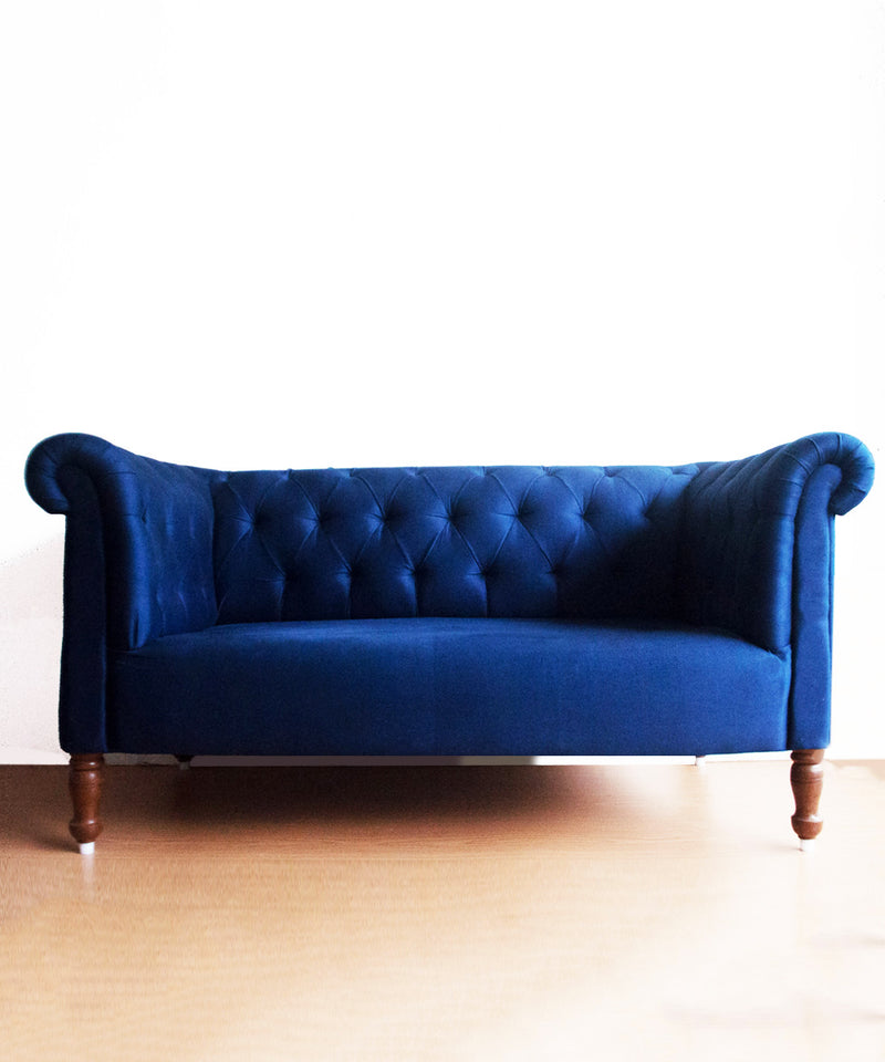Blue Sapphire Two Seater Sofa