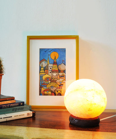 Globe Sea Salt Lamp