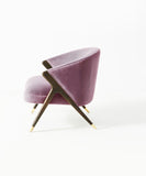 Cross Over Velvet Lilac Chair