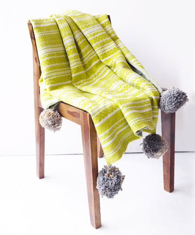 Winter Green Throw Blanket