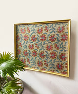 Indo Flower Gold Wall Art