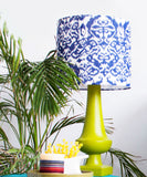 Carved Ikat Lamp Ensemble