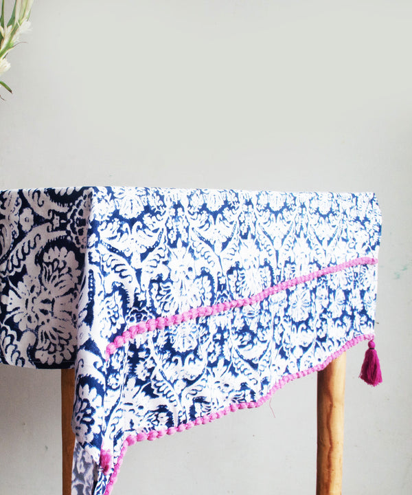 Zane Indigo Table Cloth