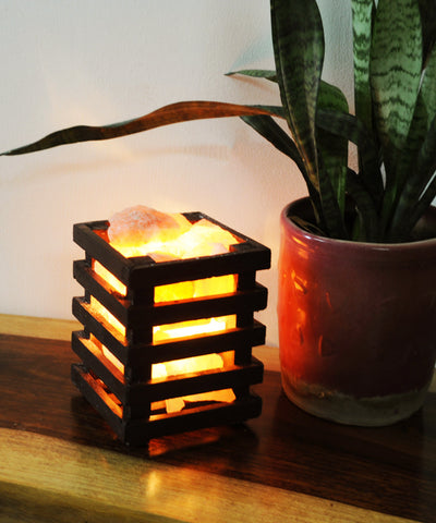 Sea Salt Wooden Lamp