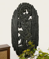 Coal Krishna Sculpture