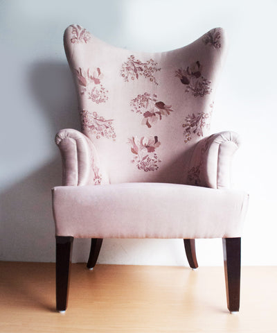 Falling Flowers Wingback Chair