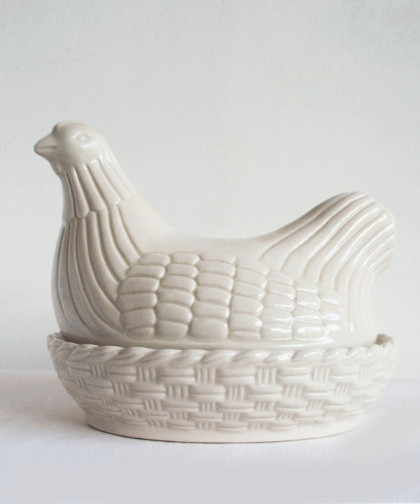 Hen Sculpture Serving Dish