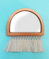 Fringed Half Moon Mirrors Set Of Three