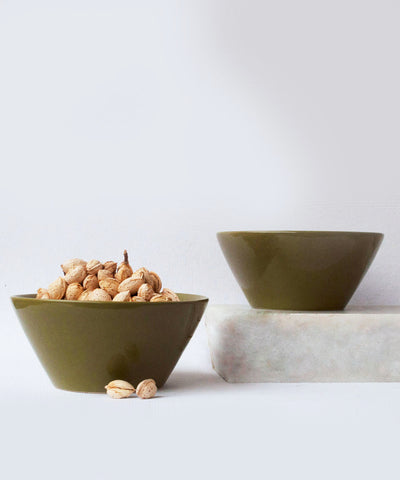 Gleaming olive bowl