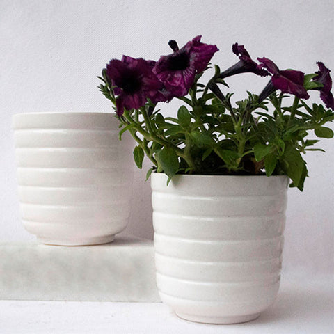 Ceramic Barrel Planter