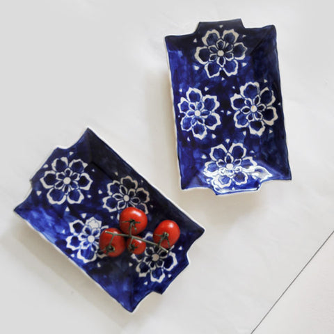 Indigo Bloom Tray