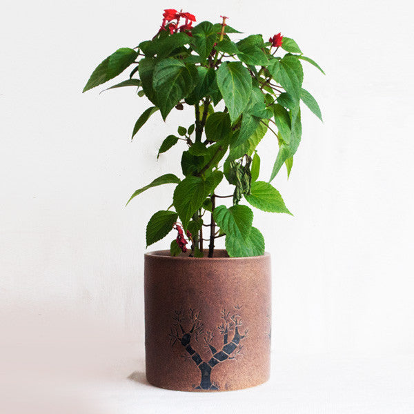 Brown Tree Of Life Planter