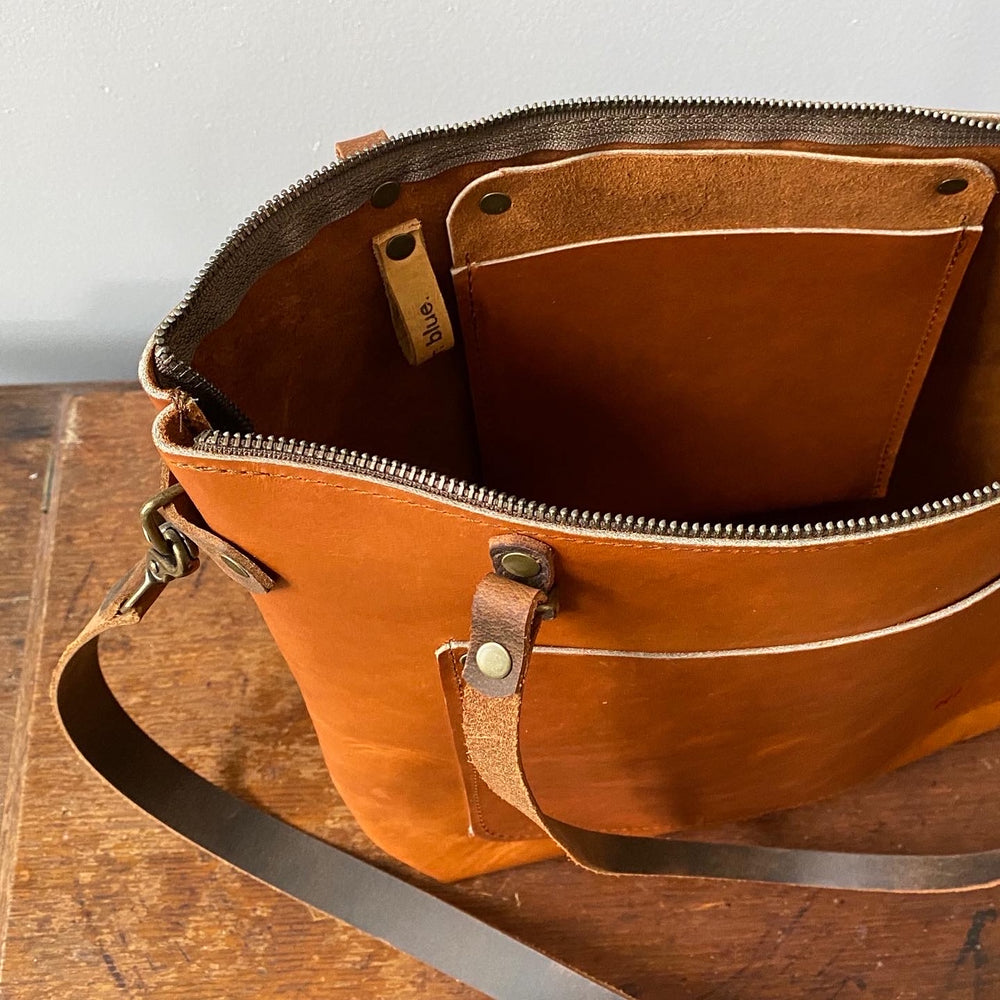 Medium 100% Genuine Leather Project Bag