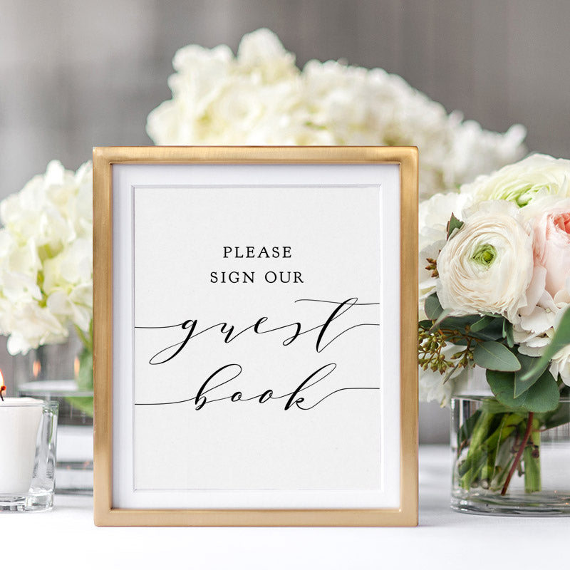 Free Printable Guest Book Sign Connie Joan
