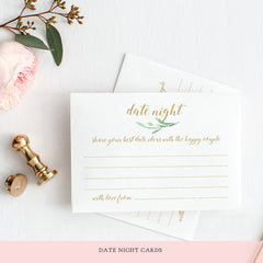 Printable Date Night Ideas Card